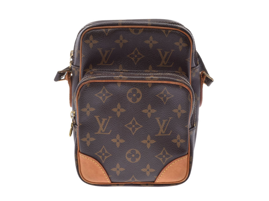 eac1e289ade Louis Vuitton monogram Amazon brown M45236 Lady's genuine leather shoulder  bag B rank LOUIS VUITTON used silver storehouse