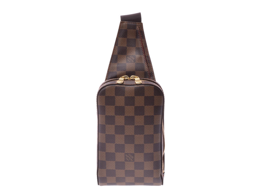 ルイヴィトン ダミエ ジェロニモス 旧型 ブラウン N51994 メンズ 本革 ワンショルダーバッグ Aランク 美品 LOUIS VUITTON 中古 銀蔵