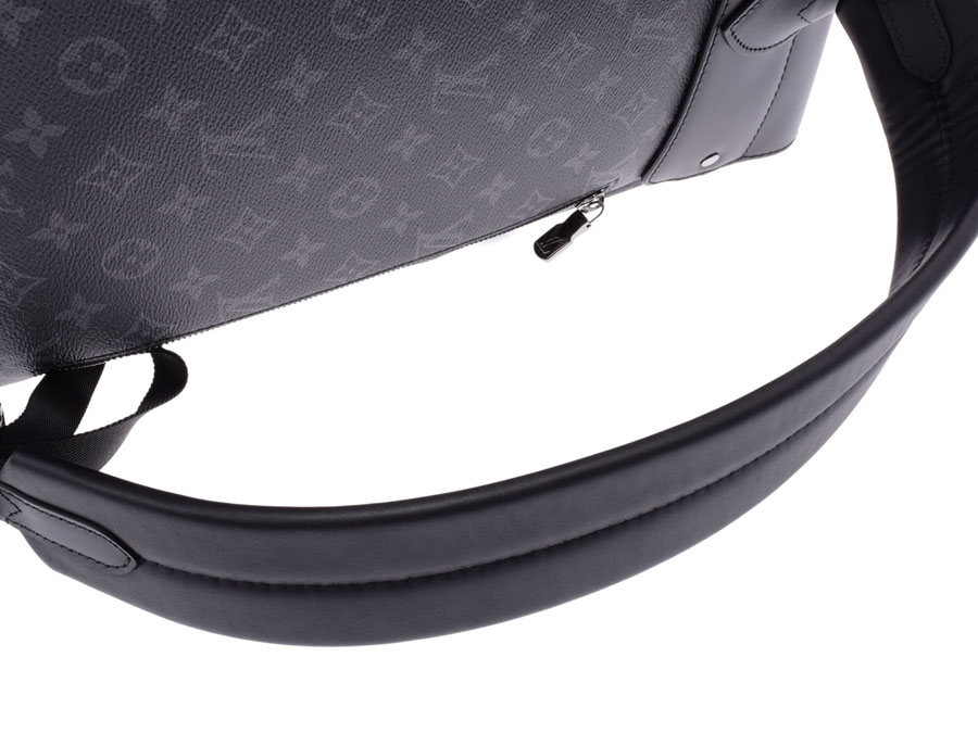 8dc2e9103b84 Louis Vuitton eclipse steamer backpack black M44052 men genuine leather  rucksack new article LOUIS VUITTON silver storehouse