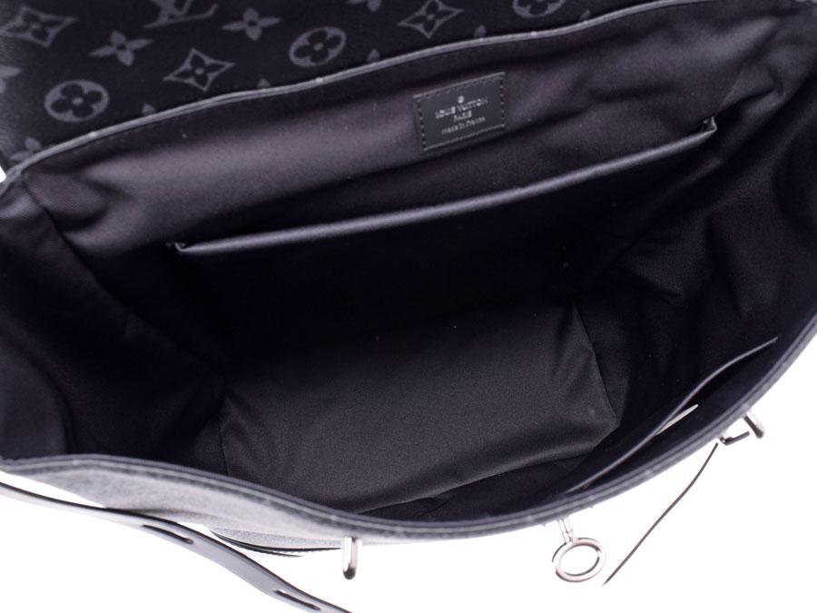 dd1950ea5fd0 ... Louis Vuitton eclipse steamer backpack black M44052 men genuine leather  rucksack new article LOUIS VUITTON silver ...