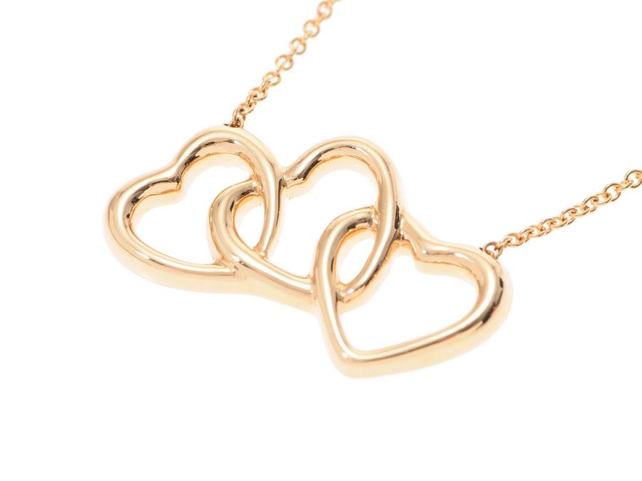 51ee55cbaa107 Tiffany triple heart necklace Lady's YG 5.1 g A rank beauty product TIFFANY  & CO used silver storehouse