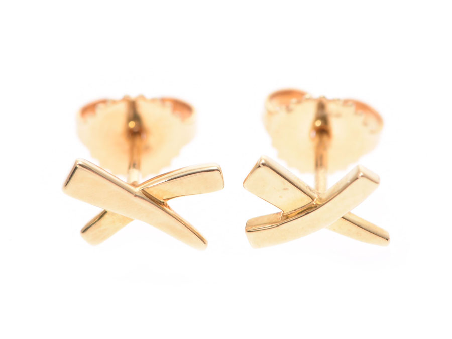 f76d701f3 Tiffany Paloma Picasso graffiti pierced earrings Lady's YG 1.6 g A rank  beauty product TIFFANY & ...