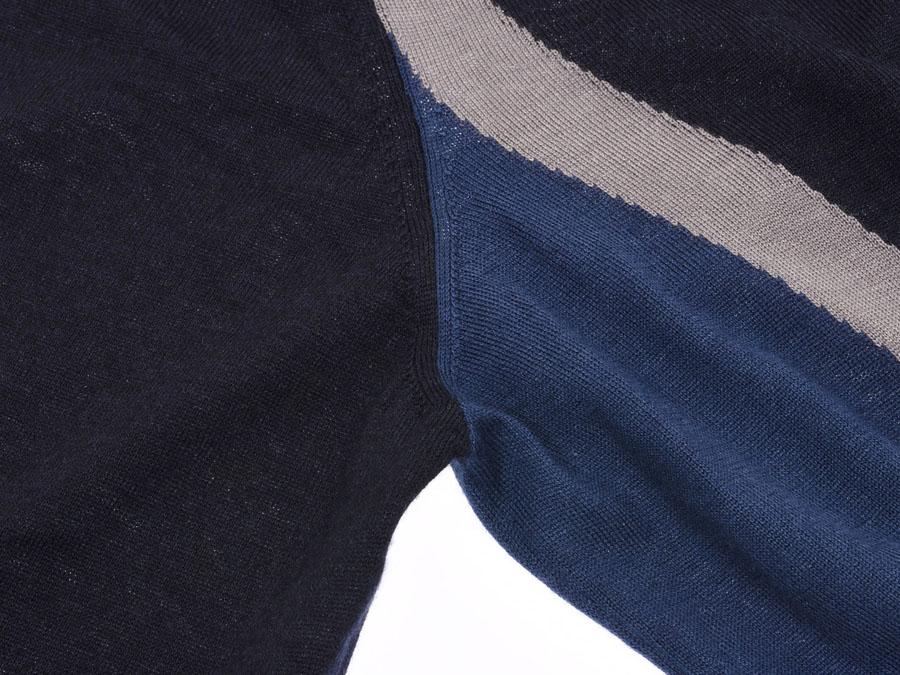 d8b45634ab709 HERMES silver storehouse 20% newer Hermes knit dark blue size XL men  cashmere 80% silk