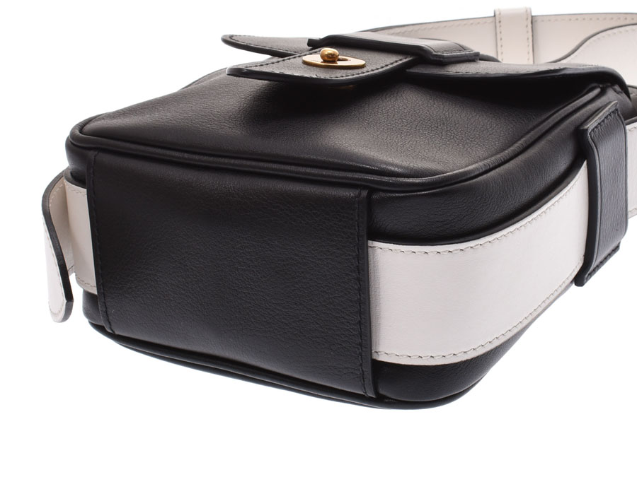 e8321381b6 The Prada shoulder bag that a by collar of the black X white is stylish. It  is small-sized size