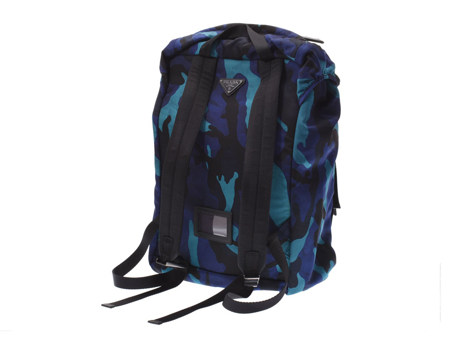 4f3005ee9e21 Backpack / rucksack of Prada that a camouflage pattern is stylish to the  nylon material which it is easy to treat at light weight. As there is  capacity, ...