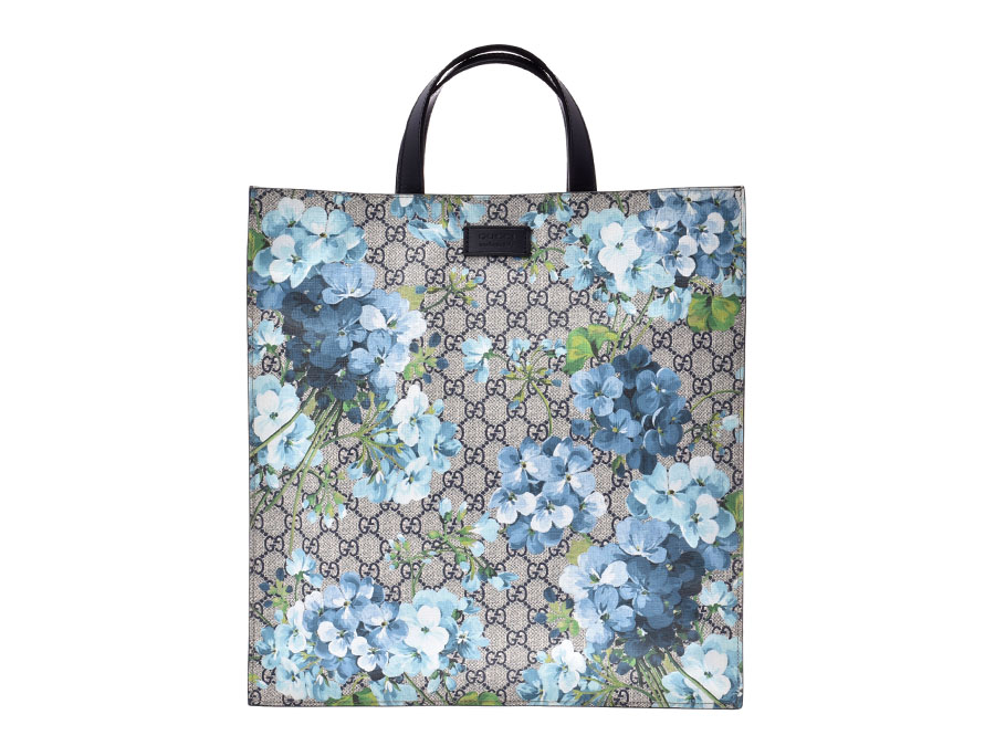 96216a2bdb67 Ginzo Rakuten Ichiba Shop: Used goods silver storehouse with Gucci GG  スプリームブルーム 2WAY tote bag blue system floral design Lady's PVC leather-free  ...