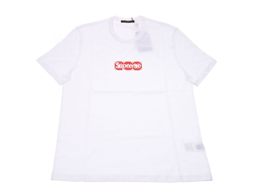 b5826efe6837 100% of Louis Vuitton T-shirt Supreme collaboration size L white   red men  cotton-free beautiful article LOUIS VUITTON used silver storehouse