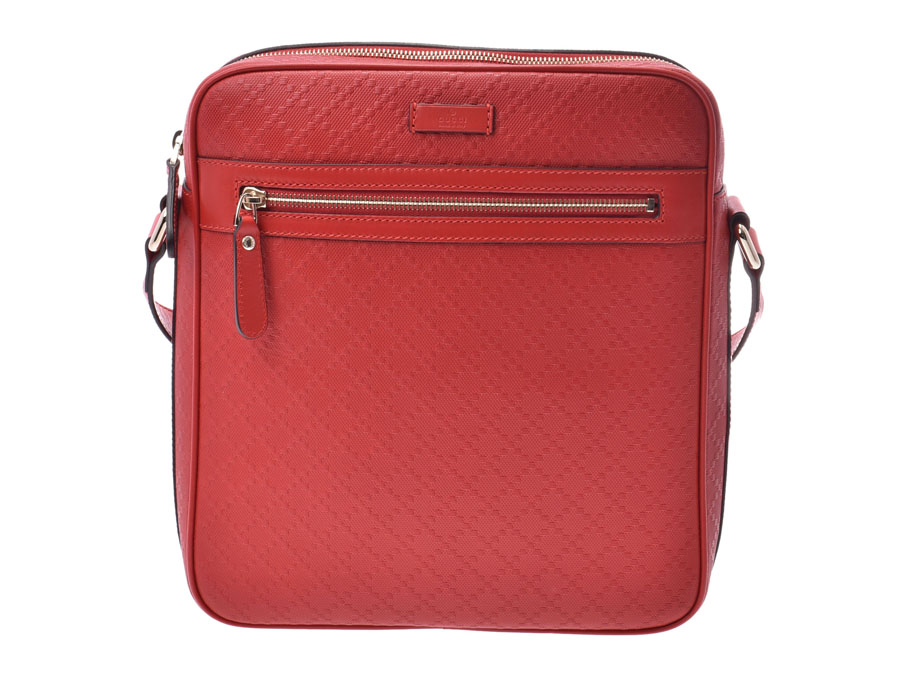 4475ba41c38 Gucci Diamante messenger bag red men gap Dis calf shoulder bag newly beauty  product GUCCI used silver storehouse