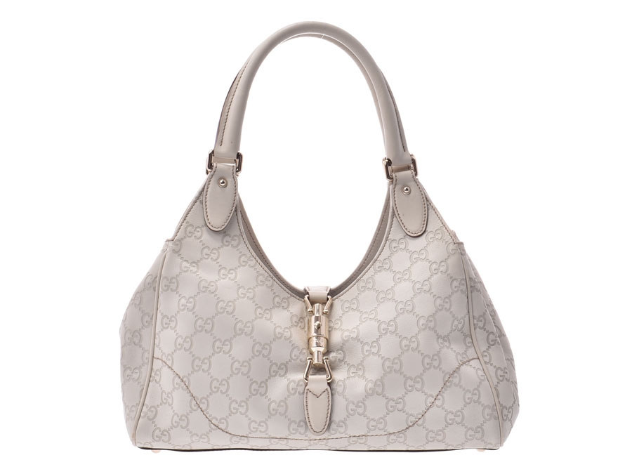 3c437290de0 Gucci Gucci sima semi-shoulder bag white 145819 Lady s leather B rank GUCCI  used silver storehouse
