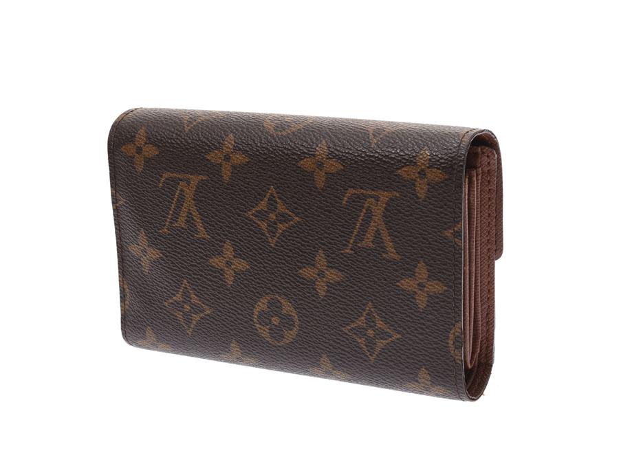 lowest price 6d8a6 d5da7 ルイヴィトンモノグラムポルトフォイユアレクサンドラブラウン M60047 men gap Dis genuine leather wallet AB  rank LOUIS ...