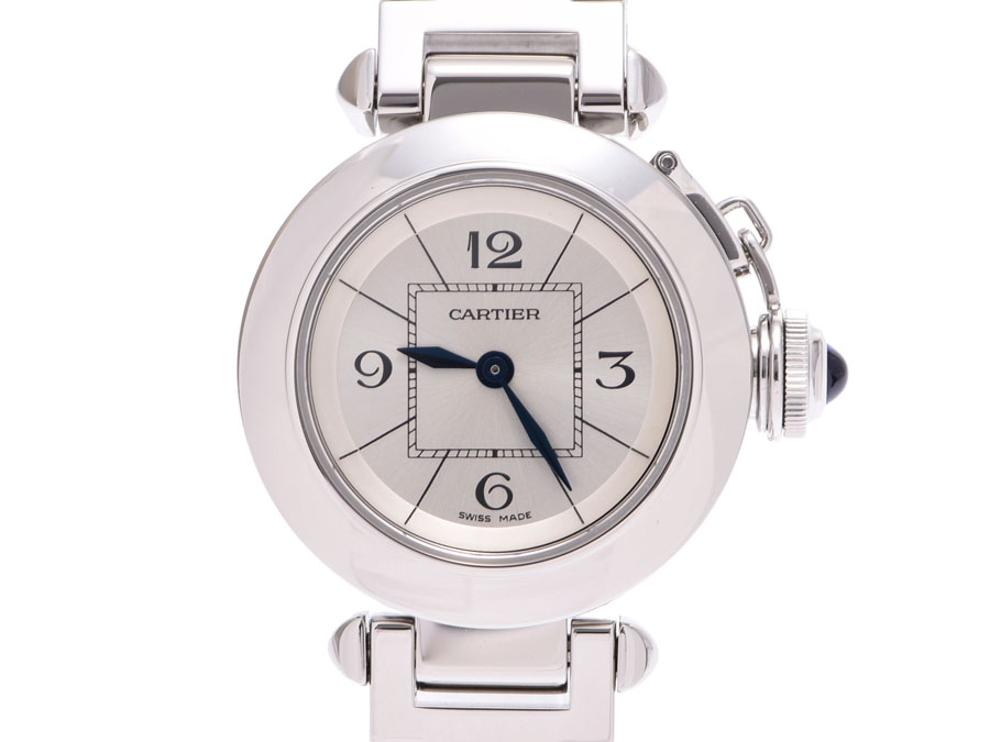 007669862e9fd Cartier Miss pasha silver system clockface W3140007 Lady s SS quartz clock  A rank beauty product CARTIER used silver storehouse