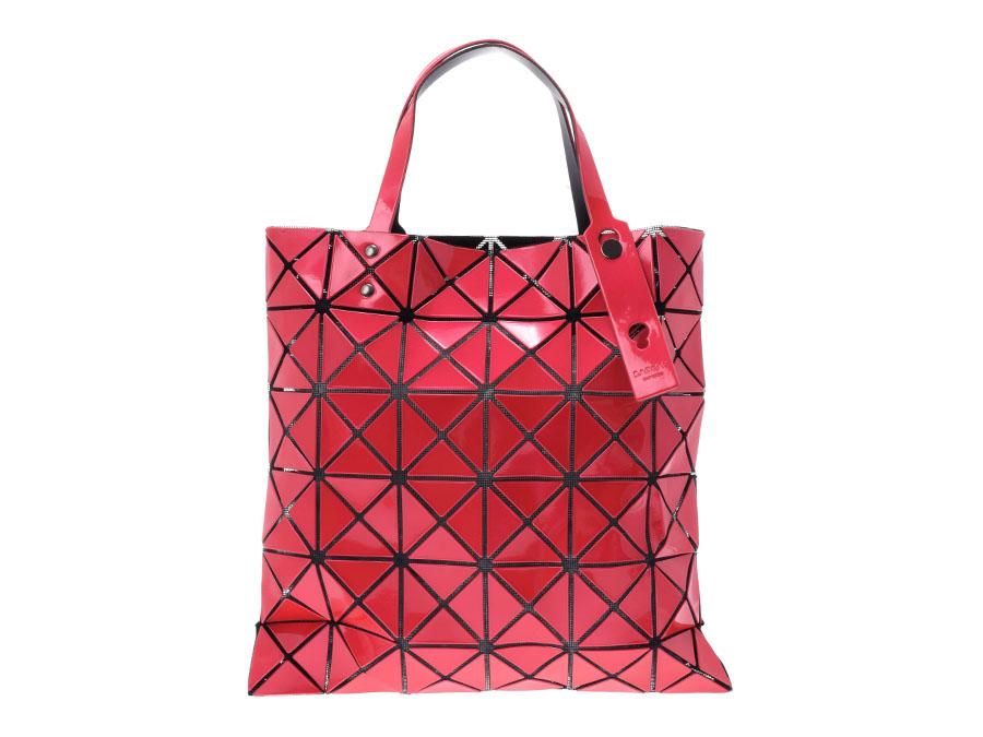 バオバオ トートバッグ 6×6 赤ピンク系 レディース 塩化ビニール 未使用 BAOBAO ISSEY MIYAKE 中古 銀蔵