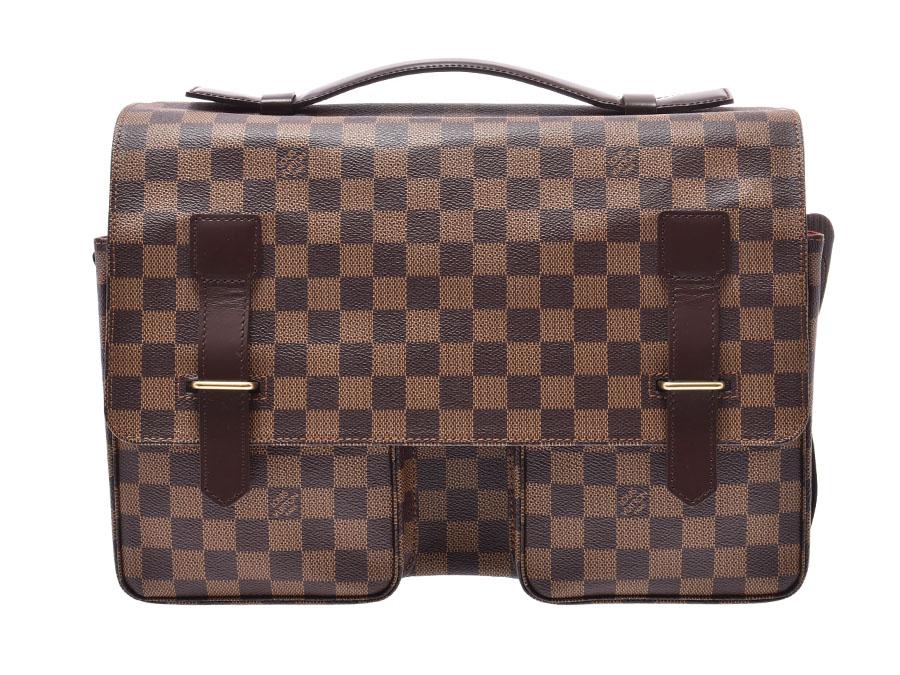 ルイヴィトン ダミエ ブロードウェイ ブラウン N42270 メンズ 本革 ビジネスバッグ ハンドバッグ Aランク 美品 LOUIS VUITTON 中古 銀蔵