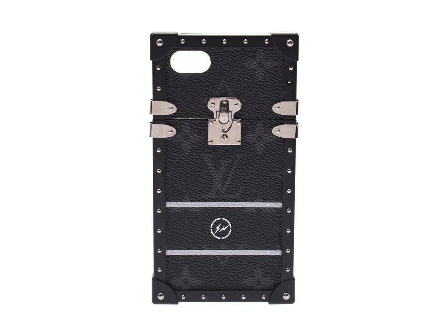 ルイヴィトン エクリプス アイトランク iPhone7 フラグメントコラボ 黒 M62613 メンズ スマホケース Aランク 美品 LOUIS VUITTON
