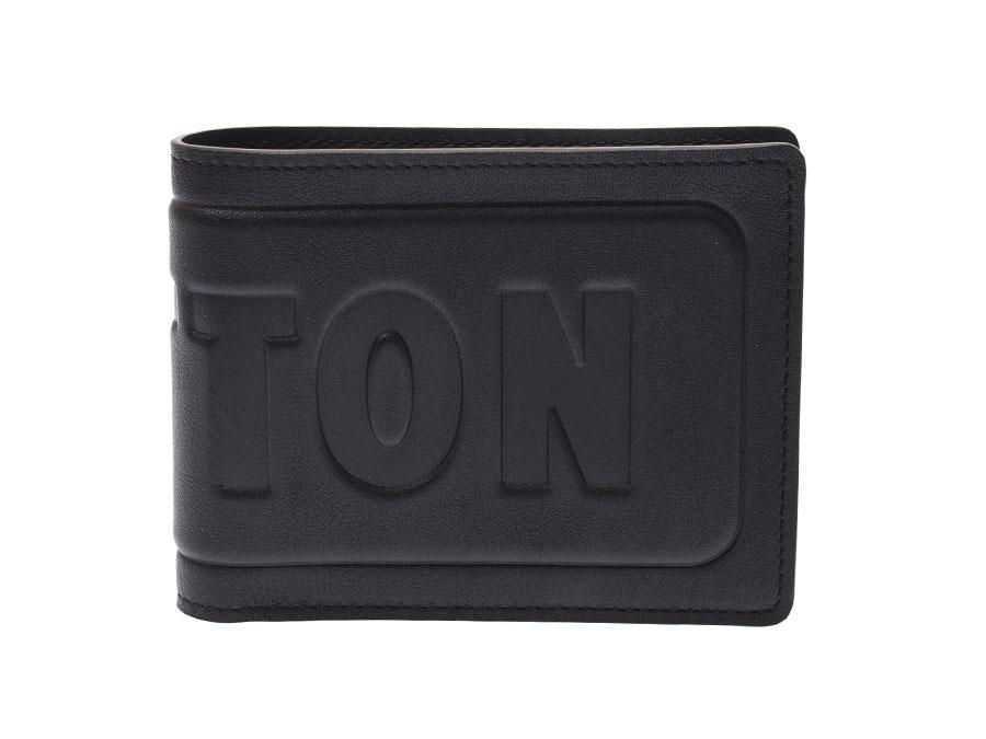 ルイヴィトン ダークアンフィニティ ポルトフォイユミュルティプル 黒 M63235 メンズ 本革 二ツ折札入れ Aランク 美品 LOUIS VUITTON 中古 銀蔵