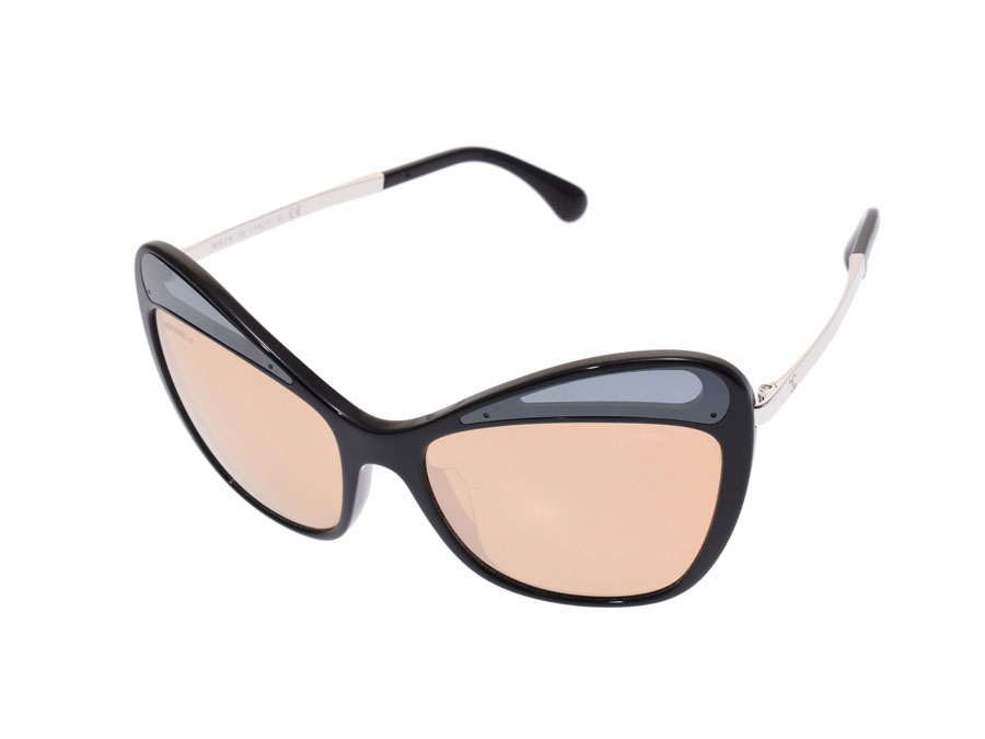 ebd0af40bf48 Chanel sunglasses 5377-A c.501 T6 black   metal Lady s A rank CHANEL box  case used silver storehouse