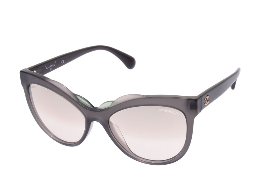 153ede0b2d1 Ginzo Rakuten Ichiba Shop  Chanel sunglasses mirror lens 71186A-S5188 gray  system Lady s AB rank CHANEL case used silver storehouse