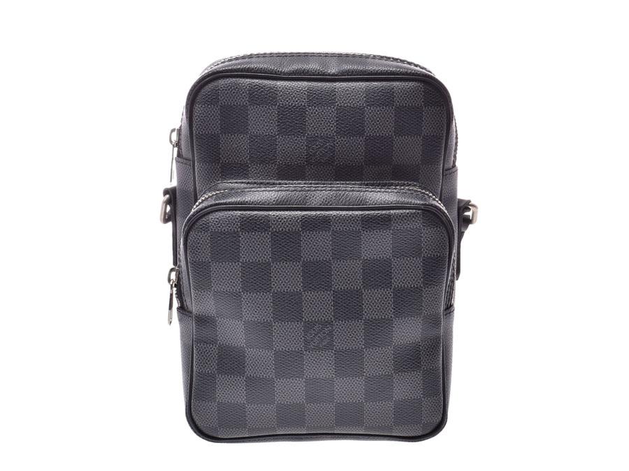 aab4ec7dc71f ルイヴィトン グラフィット レム 黒 N41446 メンズ 本革 ショルダーバッグ ABランク LOUIS VUITTON