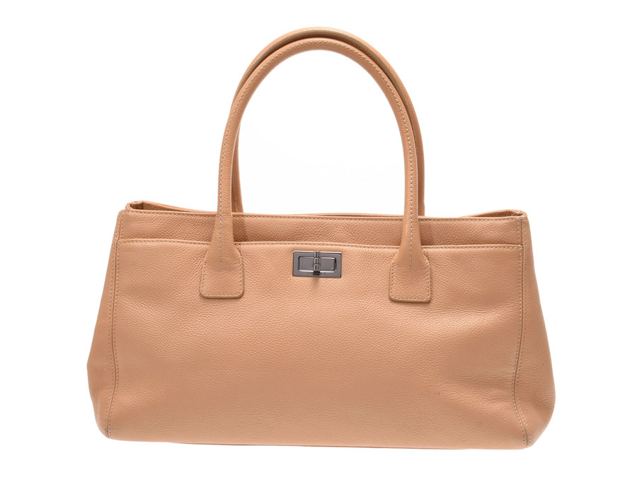 da9fdbaf252a Chanel 2.55 series executive tote bag beige SV metal fittings Lady's  software caviar skin B rank ...