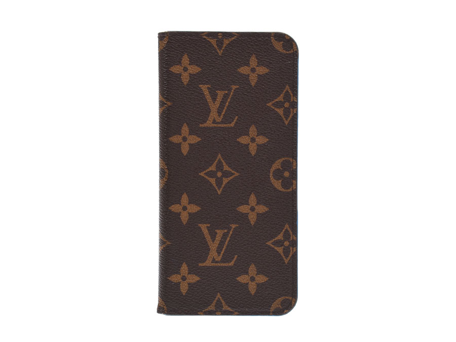 online store 9041e a73a6 Louis Vuitton iPhone7 & 8 folio blue men gap Dis genuine leather iPhone  case B rank LOUIS VUITTON used silver storehouse