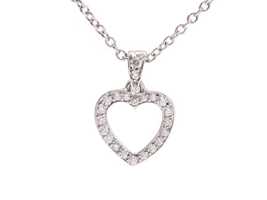 b57afdd00 Ginzo Rakuten Ichiba Tiffany Metro Heart Necklace Lady S Pt950. Diamond Heart  Pendant
