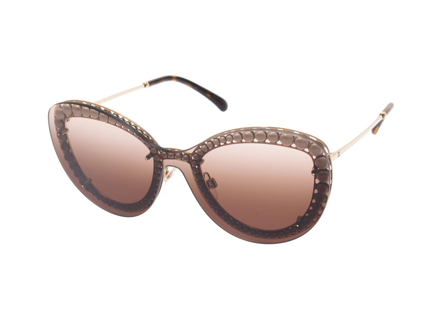 8d74f49d6 Chanel sunglasses butterfly shape 4236-H C.395/S5 Lady's metal pearl A ...