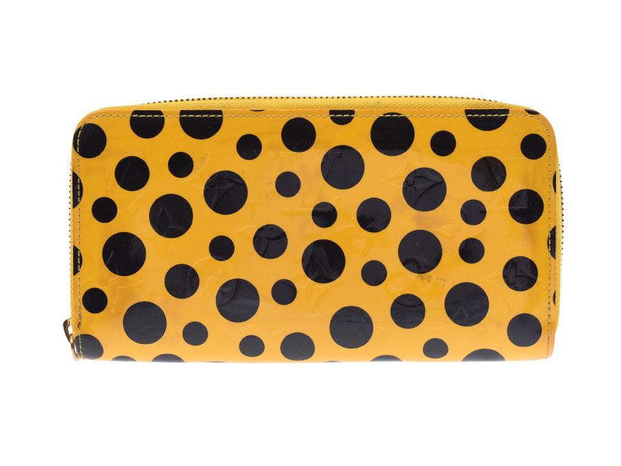 brand new 740f6 10a95 長財布 レディース 黄色 パンプキンドット ジッピーウォレット ...
