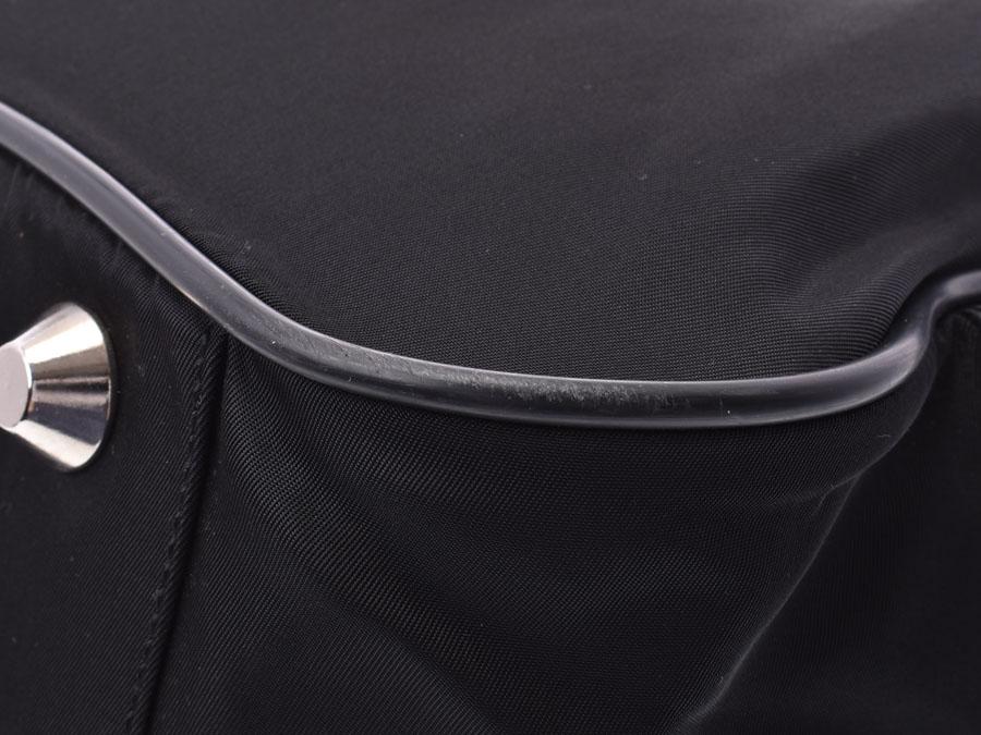 プラダ ボストンバッグ 黒 メンズ レディース ナイロン レザー Bランク PRADA銀蔵xBdQrCeWo