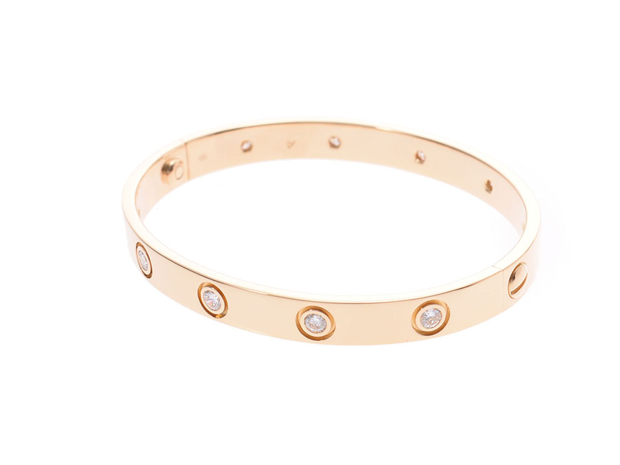 b6c373be3c327 Cartier love bracelet full diamond #16 Lady's YG 28.2 g A rank beauty  product CARTIER inner box guarantee used silver storehouse