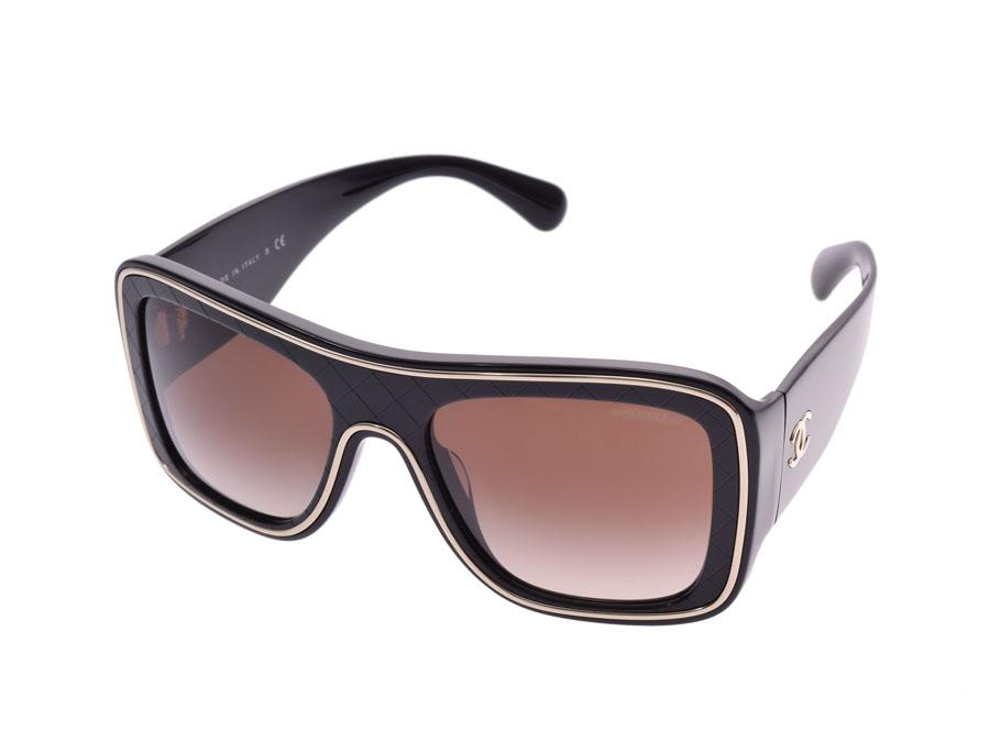 シャネル マトラッセ ココマーク サングラス 黒 5395-A レディース メンズ Bランク CHANEL ケース 中古 銀蔵