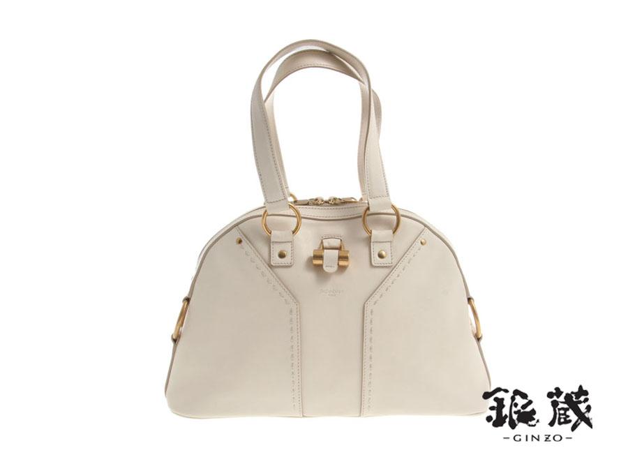 Ginzo Rakuten Ichiba Shop  New the Yves Saint Laurent Muse bag White  leather-  cf0e643ff9c1e