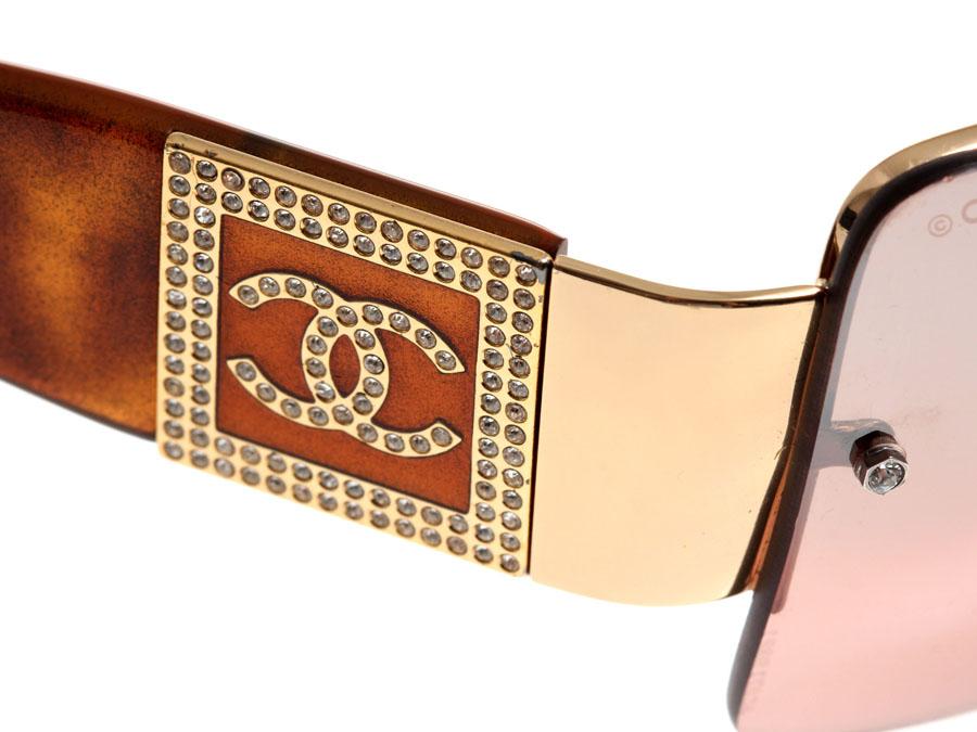 香奈儿,香奈儿太阳镜农副产品石头标志棕色 4095 B c.125/6U-