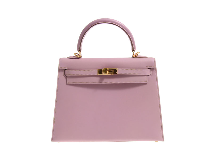 6d0d5fc5438a Hermes HERMES Kelly 25 BOX Nepal lilac x G fittings E stamped outside sewn-