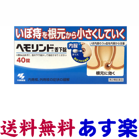 ●手数料無料!! 第2類医薬品 直送商品 ヘモリンド舌下錠 40錠