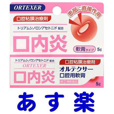 【第(2)類医薬品】オルテクサー口腔用軟膏 5g(ケナログAのジェネリック)口内炎薬