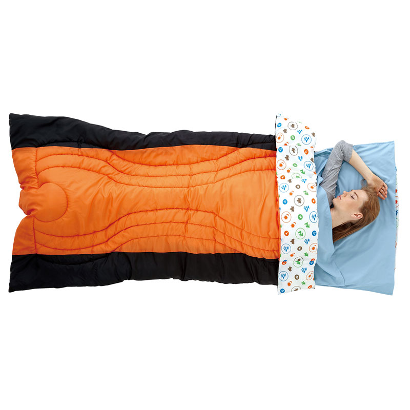 LOGOS ロゴス アウトドア シュラフ構造サラサラシーツ 寝袋のインナー・アウターとして シルキーインナーシュラフ チャコール