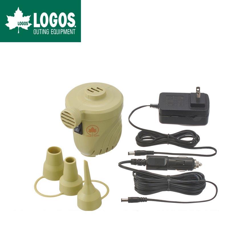 LOGOS ロゴス 電動 定番キャンバス エアポンプ AC 2wayパワーブロー DC 4mロングDCコード 新品■送料無料■ 0.51PSI