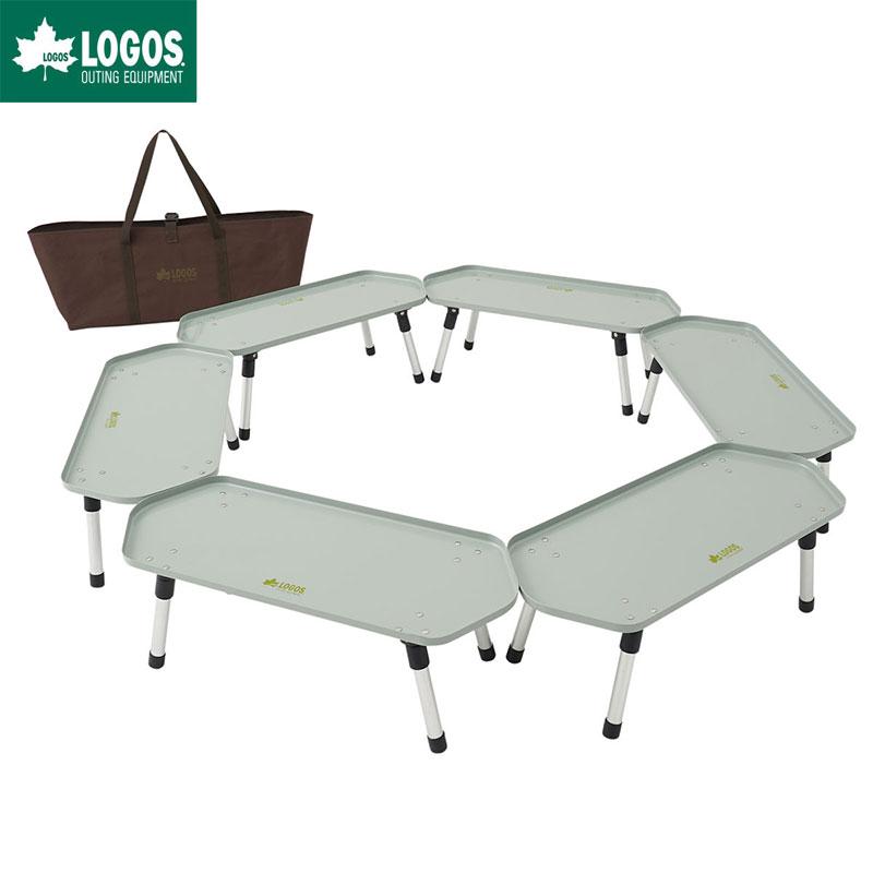 LOGOS ロゴス アウトドア 六角囲炉裏 ラック テーブル
