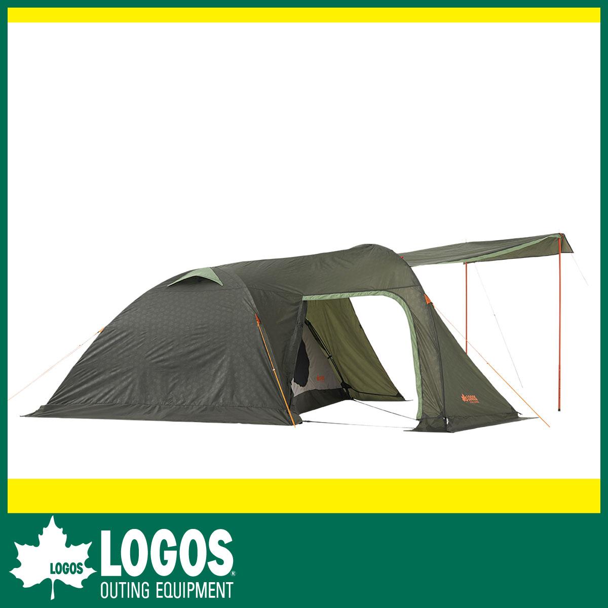 【LOGOS ロゴス】大きな開口部を備えた2ルームテント ・neos リビングプラス・PLR XL(テント)