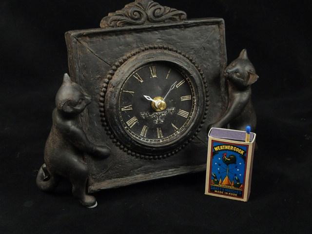 15000円以上送料無料 ネコの時計 インテリア 置物西洋 飾り 新登場 オブジェ 直営限定アウトレット ジョバンニローゼ