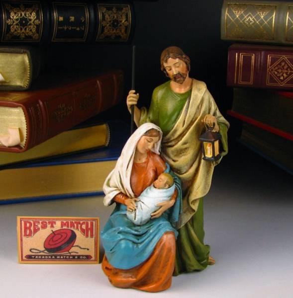 【ホーリーファミリー】キリスト教/クリスマス/イエス/マリア/ヨハネ/西洋インテリア/ジョバンニローゼインテリア/小物/置物/西洋風/アンティーク/クリスマス//オブジェ
