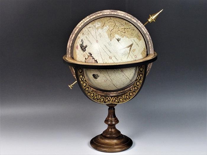 地球儀/メルカトルグローブ・ジョバンニローゼ・アンティーク地図・インテリア・大航海・西洋・マリン・西洋・欧州・地中海・