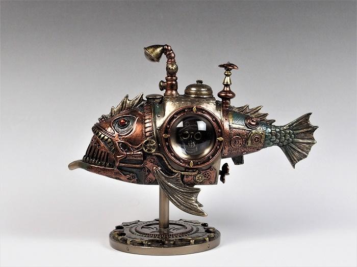 スチームパンク/fish潜水艦/SFファンタジー/ジョバンニローゼ/インテリア/置物/ジュールベルヌ/ゴスロリ