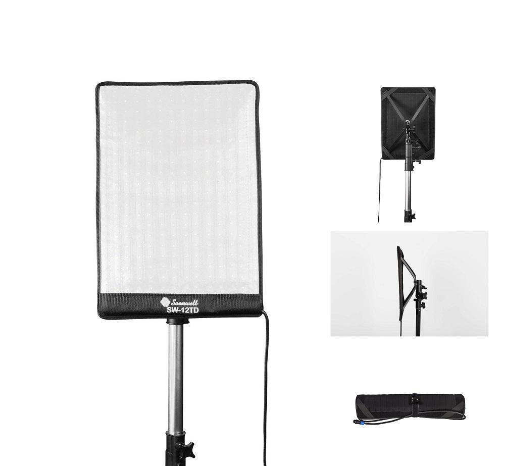 ビデオライト LED 定常光ライト 調光可能な二色 50W 3000-5600K 280球のLEDを搭載 撮影ライト(FB-151)