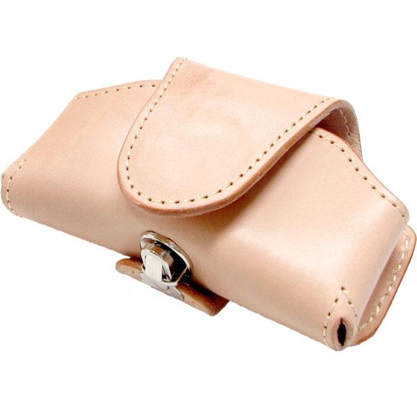 携帯電話ケース 横型 ケイタイケース 牛革 差し込み金具 ベルトループ 日本製 ヌメ革 ホースオイル 仕上げ 携帯ケース メンズ