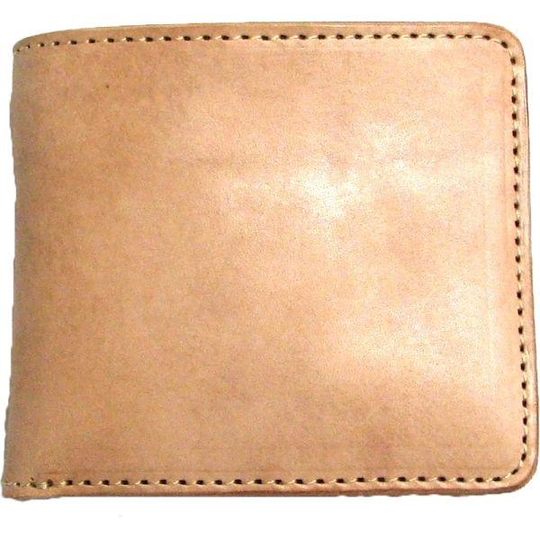 [クーポン発行中] 二つ折り財布 ヌメ革 日本製 ホースオイル仕上げ ハンドメイド ショートウォレット 牛革 名入れ メンズ プレゼント ギフト 勤労感謝の日