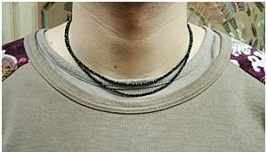 ブラックダイヤモンドの様な輝きを放つ天然石 [クーポン発行中] ブラックスピネルネックレス45cm プレゼント