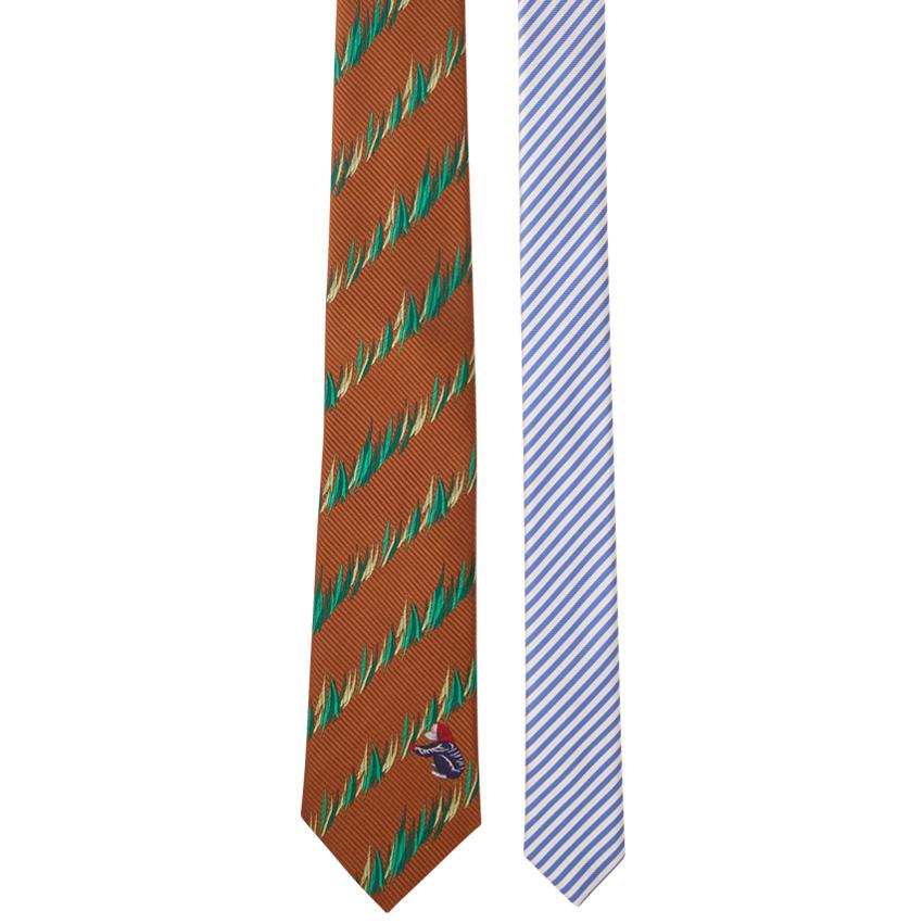 【giraffe / ジラフ / ネクタイ】ファーマーチップレジメンタイ BROWN