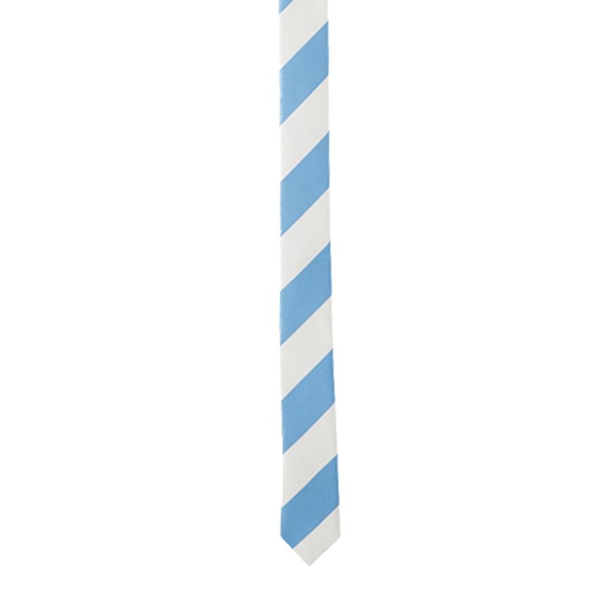 giraffe ジラフ ネクタイ プレゼント ギフト おしゃれ ビジネス 結婚式 ウエディング パーティー 1/2タイ ハーフタイ【1/2チップレジメンタルタイ LT.BLUE×CREAM(小剣)】