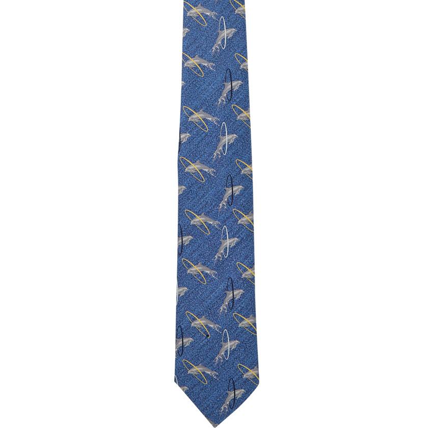 【giraffe / ジラフ / ネクタイ】ドルフィンジャンプタイ BLUE
